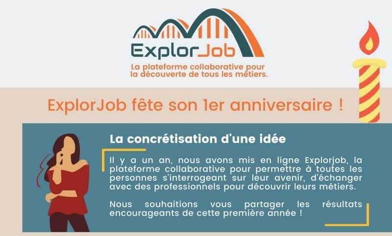 ExplorJob a 1 an